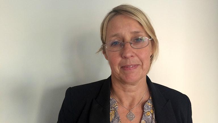 Eva-Lena Ölund Brännström, avdelningsjurist på Skolinspektionen i Umeå. Foto: Lillemor Strömberg/Sveriges Radio.
