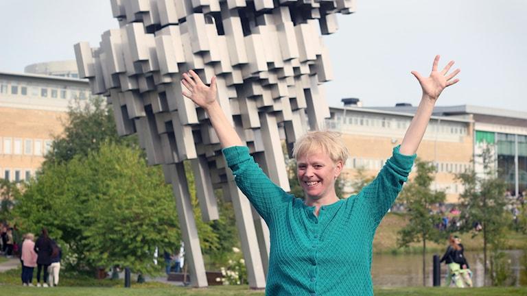 Anna Burén vid Umeå Universitet, Foto: Helena Andersson/SR