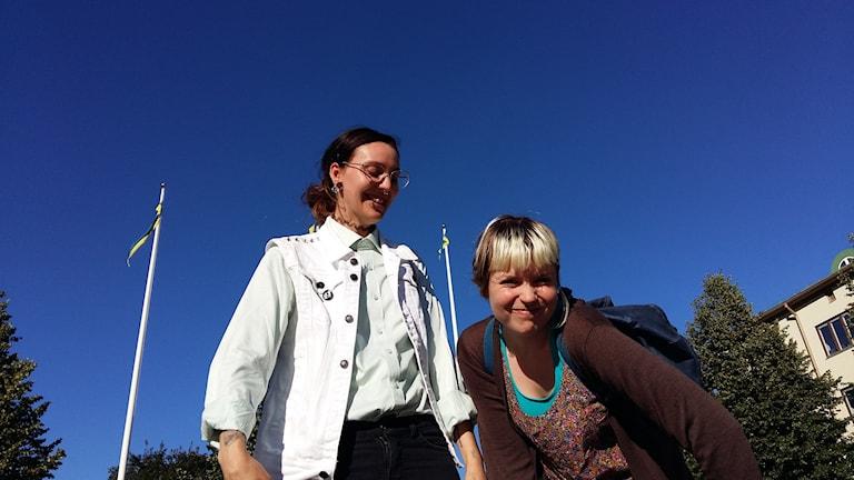 Sandor Lindström och Moa Malm. Foto: Linnea Hedelilja