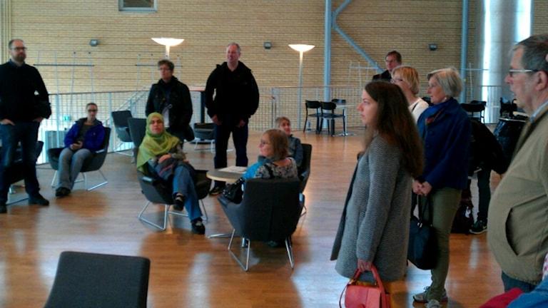 Tidigare studenter i Lindellhallen i Umeå universitet. Foto: Örjan Holmberg