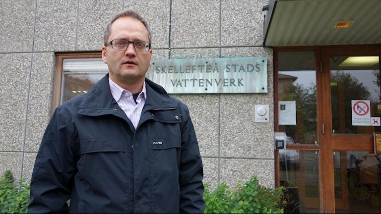 Stefan Johansson Skellefteå kommuns chef för vatten och avlopp