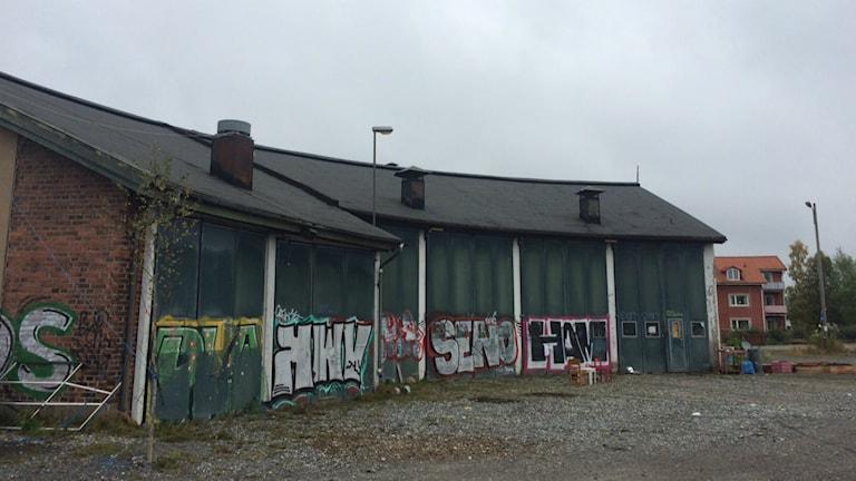 Kulturhus, lokstallar, flyktingar foto: Anders Wikström