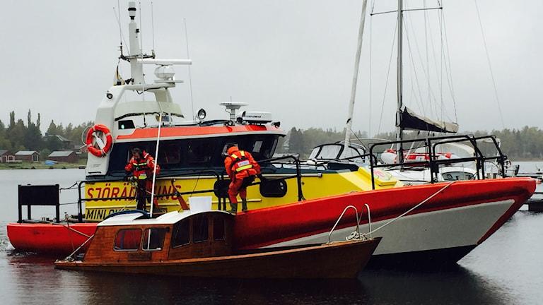 Träsnipa, båt i Obbola. Foto: Sjöräddningen