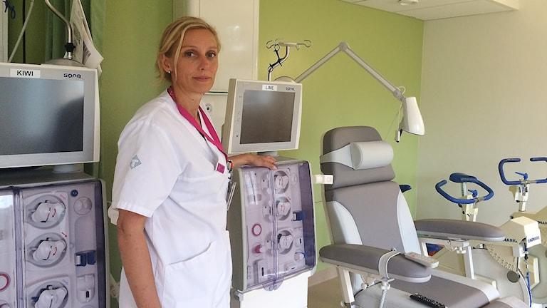, Lena Alenbro, avdelningschef dialysavdelningen Skellefteå lasarett  foto Magnus Bergner/SR