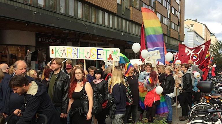 Prideparad i Umeå 2015. Foto: Eva-Britt Lennelöv/SR
