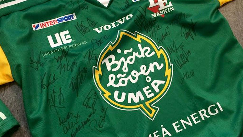 Signerad Björklöven-tröja. Foto: Björklöven