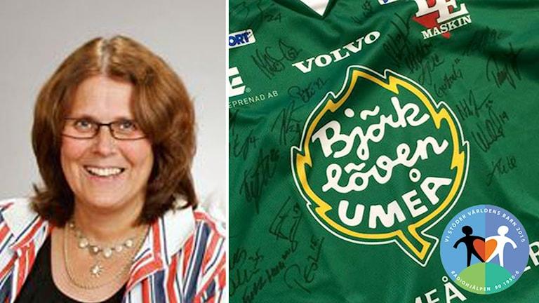 Mirja Berg vann den signerade Björklöven-tröjan. Foto: Svenska Tält, Björklöven