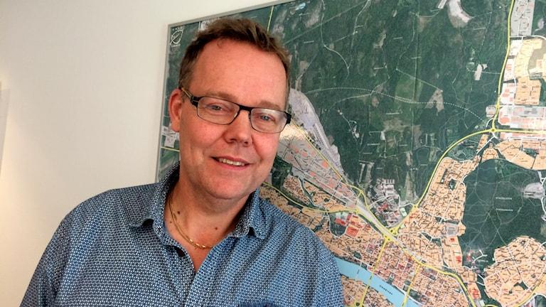 Fredrik Forsell, kollektivtrafikchef i Umeå kommun. Foto: Lillemor Strömberg/Sveriges Radio.