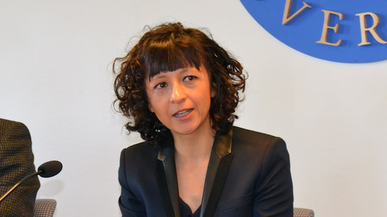 Emmanuelle Charpentier. Foto: Peter Öberg, Sveriges Radio.