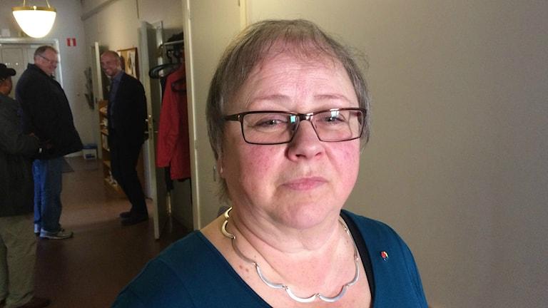 Harriet Hedlund, (S) ordförande i Umeå arbetarekommun. Foto: Agneta Johansson/SR