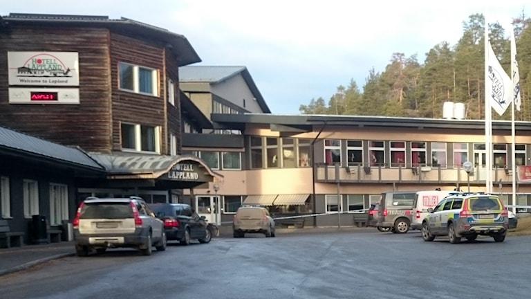 Hotell Lappland, rån. Foto: Jennifer Forsberg