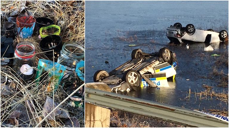 Polisen i Gävleborg höll i dag en tyst minut för den polis som omkom i olyckan i Fredrika. Foto: Adam Timander/Sveriges Radio