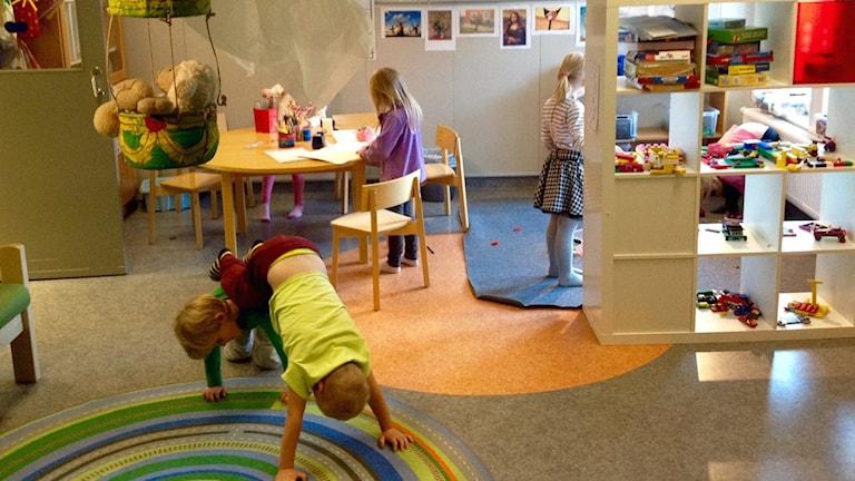 Fullt ös på Tavelsjö förskola. Foto: Privat