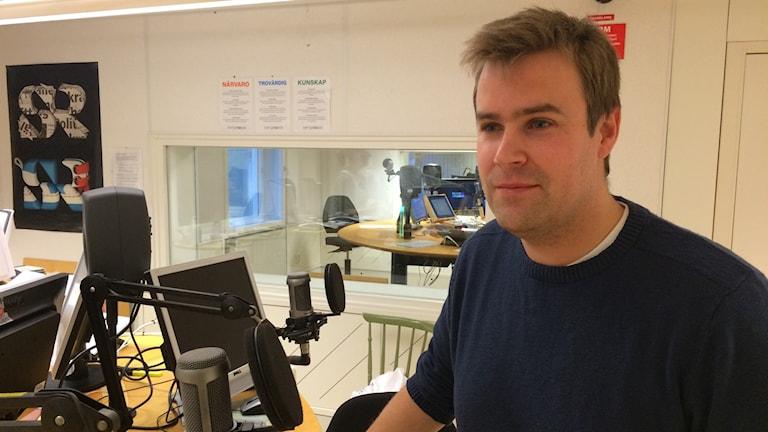 Fredrik Sjödin, forskare vid Umeå universitet. Foto: Olov Antonsson/Sveriges Radio