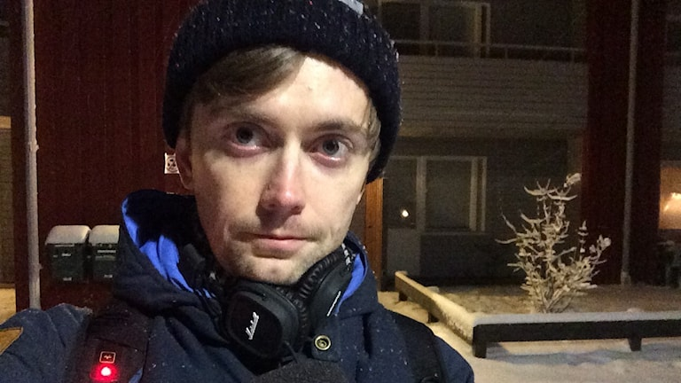 Olov Antonsson, reporter i Boliden. Foto:Sveriges Radi