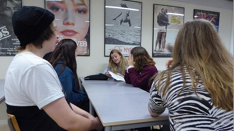 Elever på Midgårdsskolan under mediefastan. Foto: Privat
