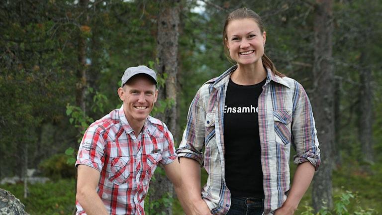 Björn Ferry och Heidi Andersson. Foto: Pressbild