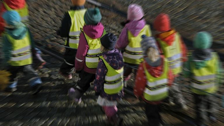 Förskolebarn på utflykt. Foto: Hassa Holmberg/TT