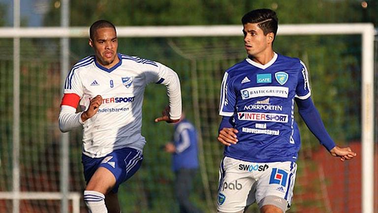 Dillan Ismail är klar för en fortsättning i Umeå FC. Foto: Jan Hofverberg