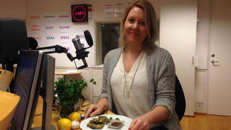 Dietisten och matbloggaren Anna Vrede. Foto: Johanna Frostensson/SR