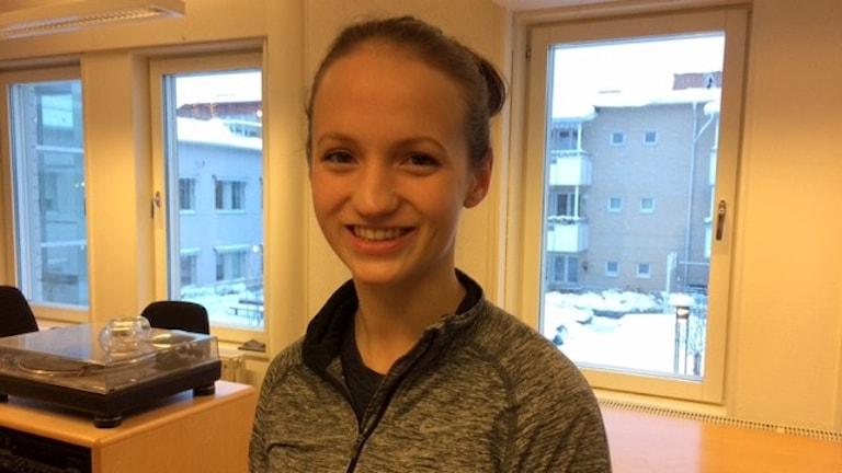 Ida Lindberg tränare Skellefteå cheerleading Foto Åza meijer