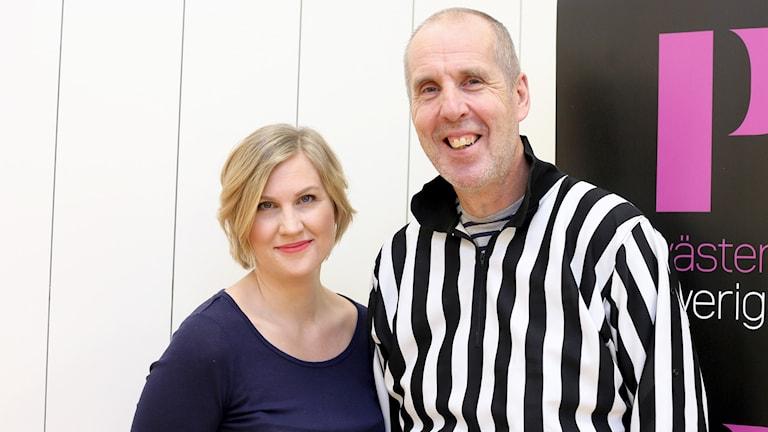 Alexandra Reichler och Tjelvar Otterbjörk. Foto: Helena Andersson/Sveriges Radio