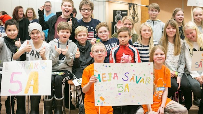 Sävar skola klass 5 A. Foto: Helena Andersson/Sveriges Radio