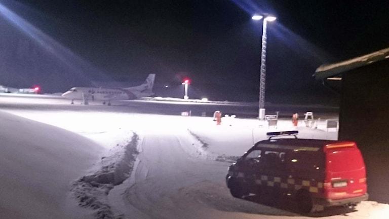 Planet från Nexjet kom ned med bara en motor. Örjan Holmberg/SverigesRadio