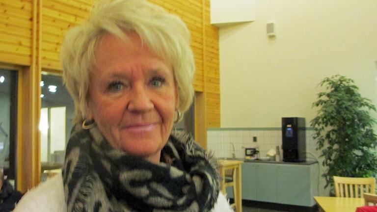Lotta Kindberg, en av passagerarna på Lyckseleplanet. Foto Örjan Holmberg/SverigesRadio