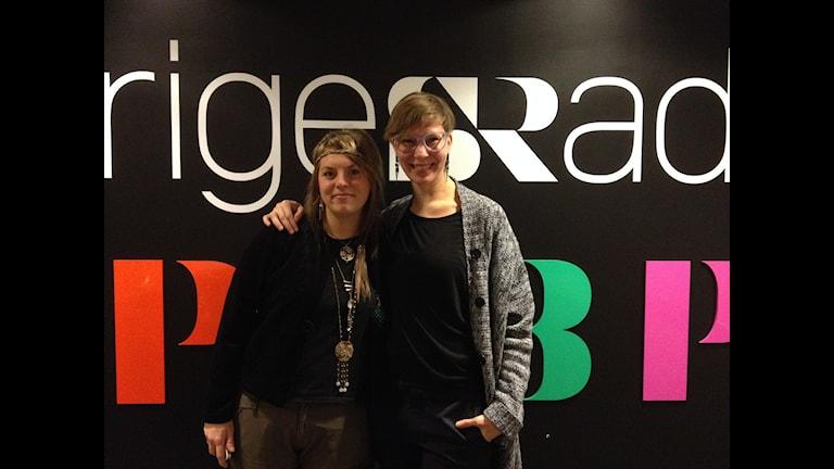 Linda Noréen, museipedagog och Annika Elmberg, frisör ska samla in kvinnorberättelser.