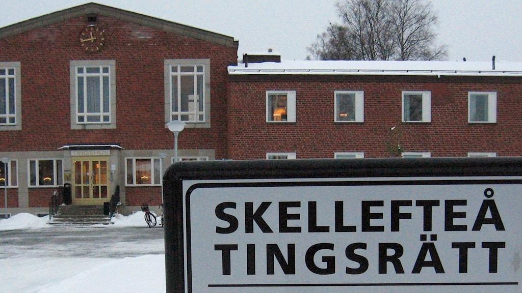 Skellefteå tingsrätt. Foto: Magnus Bergner, Sveriges Radio.