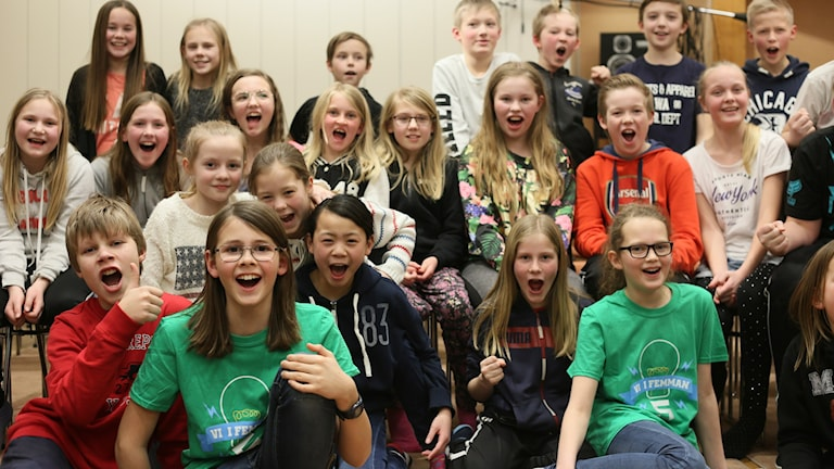 Täfteå skola klass 5 A. Foto: Helena Andersson/Sveriges Radio