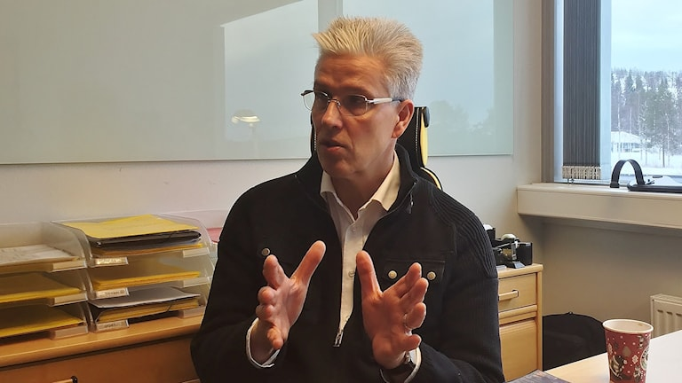 PA Israelsson, klubbdirektör i Skellefteå AIK. Foto: Magnus Bergner / SR