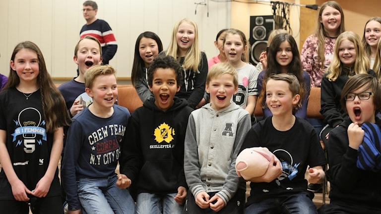 Grisbackaskolan 5C. Foto: Helena Andersson/Sveriges Radio