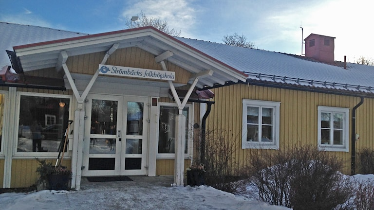 Strömbäcks Folkhögskola februari 2016. Foto: Sveriges Radio