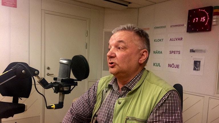 Hans Geibrink, jaktvårdskonsulent på Svenska Jägareförbundet. Foto: Lillemor Strömberg/Sveriges Radio.