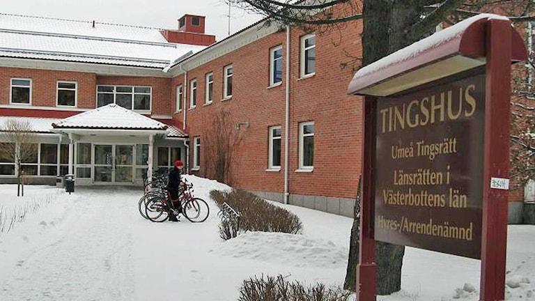 Umeå tingsrätt, Foto: Peter Öberg, Sveriges Radio.