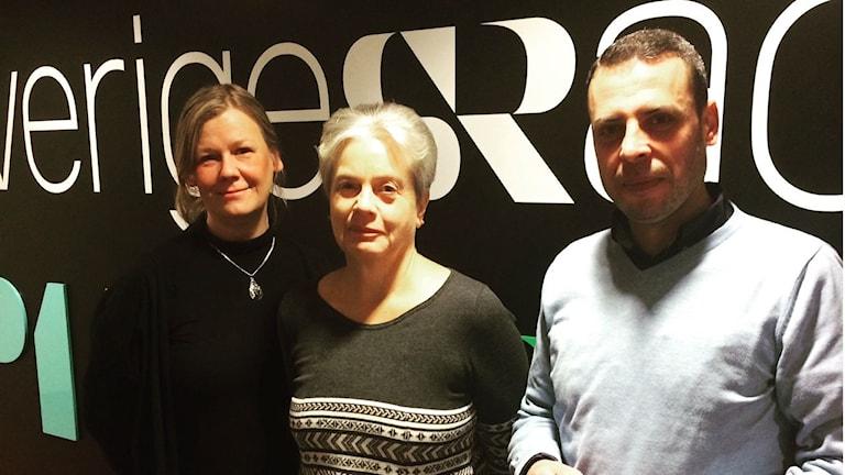Gunilla Nordlund, Inger Mossberg och Usama Hassan Foto: Mikael Hermansson