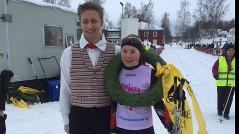 Sofia Lindberg vann 40 km damer. Foto Stefan Bygdesson.