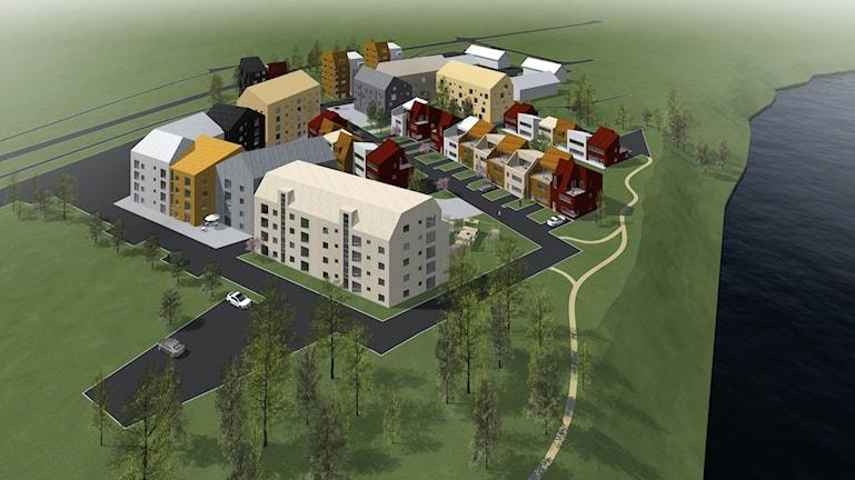 Nordhallas byggplander på Elevhemsgatan inom bostadsområdet  Anderstorp Skellefteå