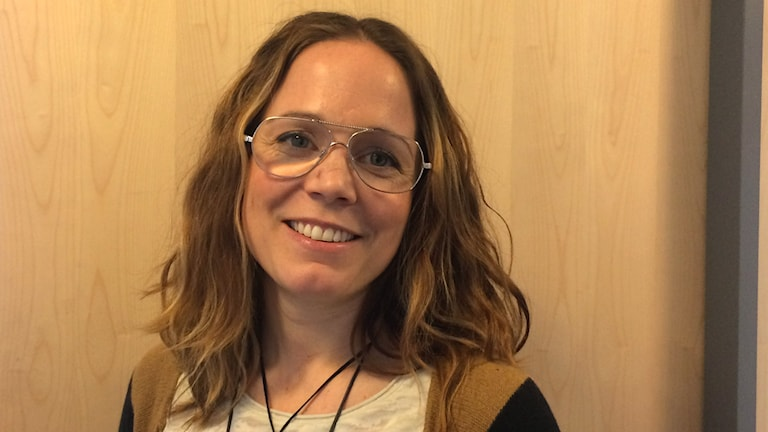 Moa Brydsten, socialdemokratisk ordförande i för- och grundskolenämnden i Umeå. Foto: Lillemor Strömberg/Sveriges Radio.
