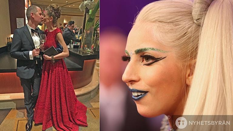 Eva von Bahr, här tillsammans med Love Larsson, fick ingen Oscarstatyett men väl ett erkännande av Lady Gaga.
