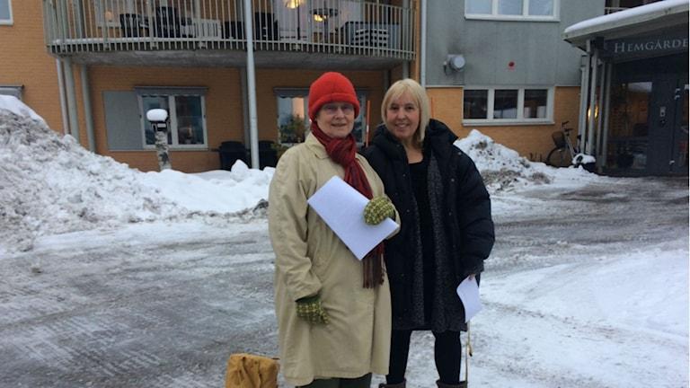 Idéhistoriker Kerstin Thörn ger oss fyra lektioner om viktiga kvinnor i Umeås historia. Foto: Mikael Hermansson/SR
