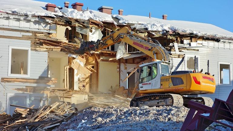 Nu rivs det Bå Huset i Skellefteå