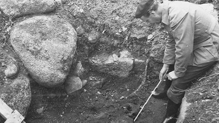 Arkeologisk utgrävning. Foto: Västerbottens museum.