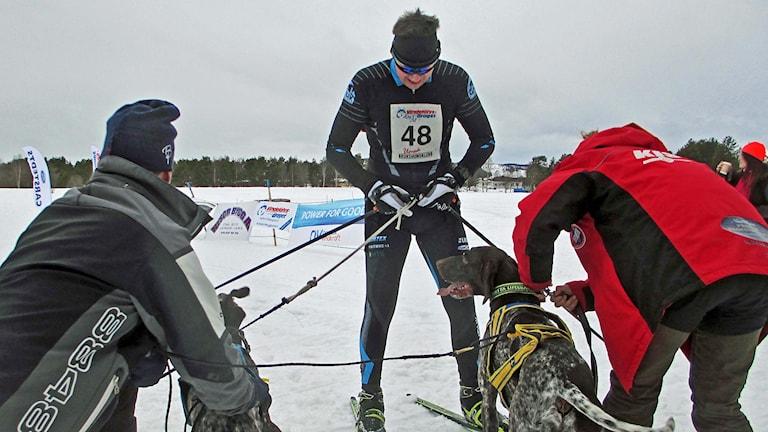 Gilbert Backström en av de tävlande i Vindelälvsdraget 2016.