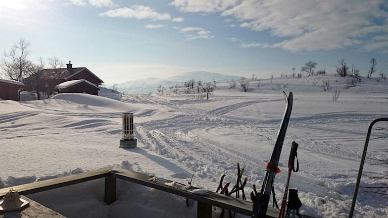 Vårvinter vid norska gränsen.