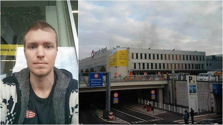 Erik Glas från Umeå lyckades undvika att landa i Bryssel.
