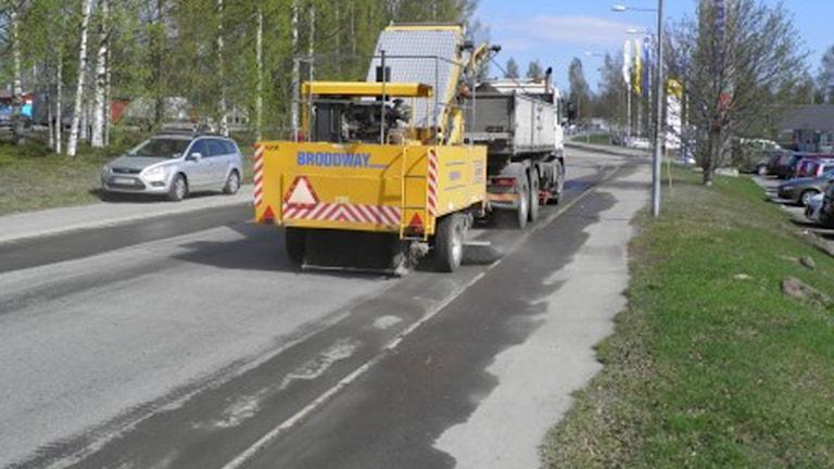 Vinterns grus sopas bort. Foto Umeå kommun.