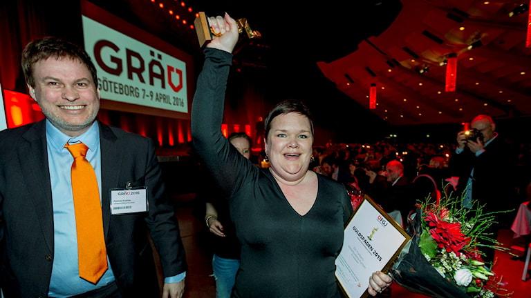 Vinnare i klassen Liten tidning: Elin Turborn, Västerbottens-Kuriren. Foto Andreas Carlsson.